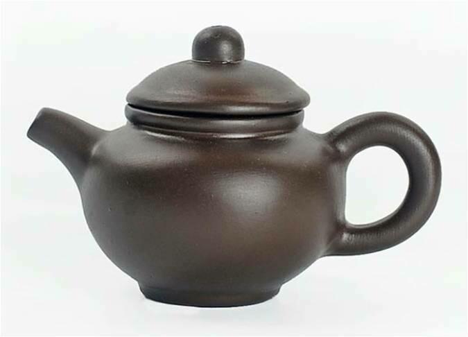 """243052.2 Чайный талисман КРОШКА """"Доу Чжи"""" h=4,6см, l=6,8см, 18мл, глина коричневый"""