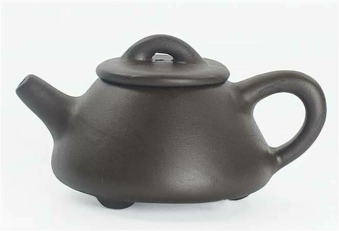 """243052.6 Чайный талисман КРОШКА """"Шипяо - Каменный черпак"""" h=3,5см, l=6,3см, 15мл, глина коричневый"""
