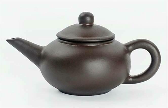 """243052.8 Чайный талисман КРОШКА """"Шуйпин - Уровень"""" h=4,2см, l=7,6см, 18мл, глина коричневый"""
