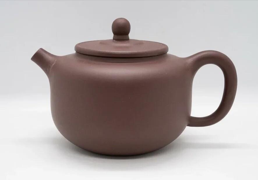 """259034 Чайник ИСИН """"Пао Цзунь - Чарка из тыквы"""" 280мл, глина коричневый, слив в форме полусферы"""