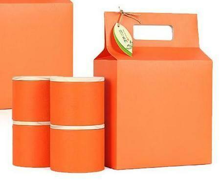 "269023.4 Коробка подар. ""Orange"" БЕЗ БАНОК  h=30см, размер=21*11см, картон"