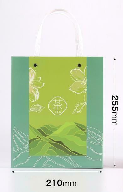 """269062.2 Пакет подар. """"TEA"""" h=25,5см, размер=21*9,5см, мел.бумага зеленый"""