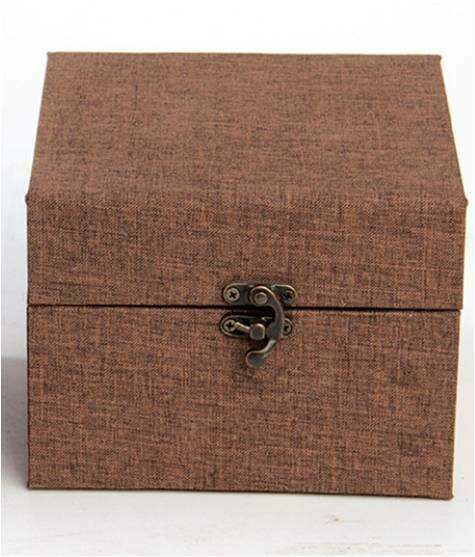 "292004.3 Коробка подар. ""Для чайника"" h=15.5см, размер=15,5*12,5см, картон/ткань коричневый"