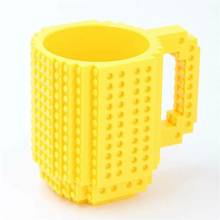 """281001.6 Кружка """"ЛЕГО"""" h=13см, d=10см, пластик желтый"""