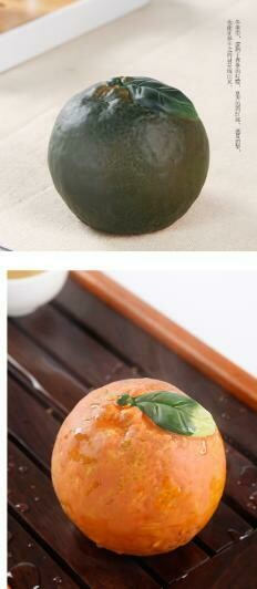 """287001.4 Фигурка-хамелеон """"Мандарин"""" размер=6*6,7см, керамика зеленый/оранжевый"""