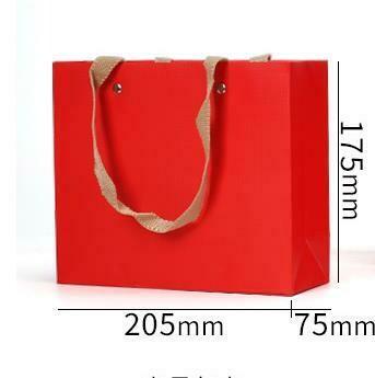"""269059 Пакет """"Подарочный"""" ручки текстиль h=17,5см, размер=20,5*7,5см, мел.бумага красный"""