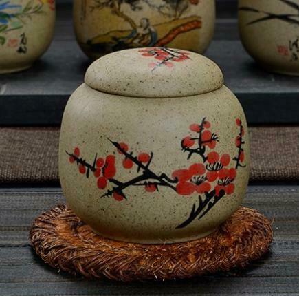 """278001 Чайница """"Сакура"""" h=8см, d=8,5см, 200мл, глина песочный"""