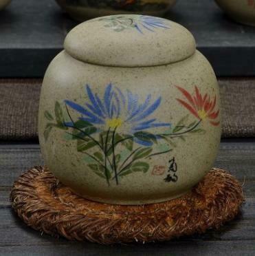 """278004 Чайница """"Хризантема"""" h=8см, d=8,5см, 200мл, глина песочный"""