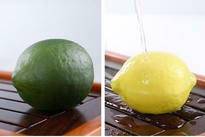 """287001.2 Фигурка-хамелеон """"Лимон"""" размер=4,8*6,9см, керамика зеленый/желтый"""