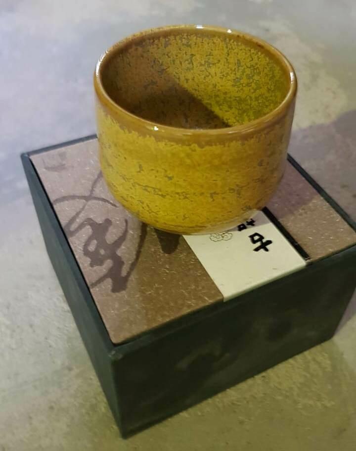 """20701.3 Пиала """"Японский стиль"""" круглая, в подар.коробке, керамика, желтый"""