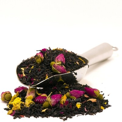 """7623D Чай черный  ароматизированный ПРЕМИУМ коллекция """"Королевская роза"""""""