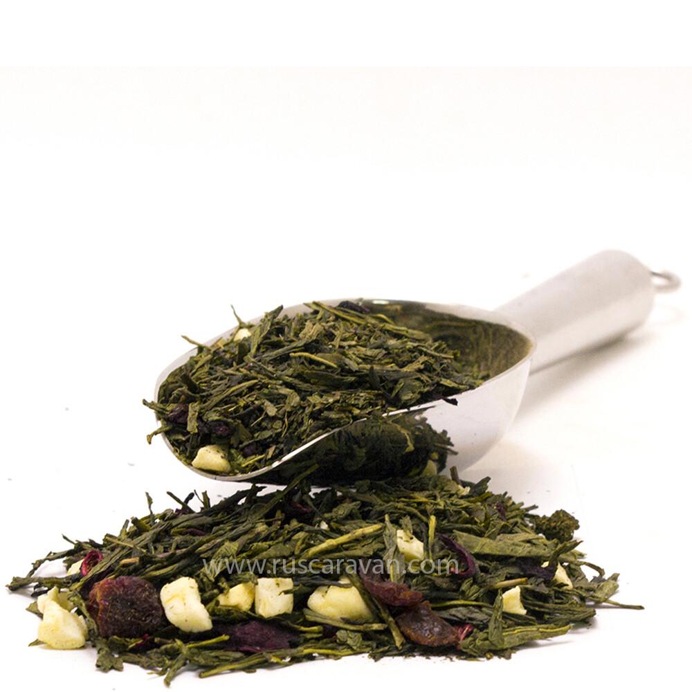 """7629D Чай зеленый ароматизированный """"Медвежья сила"""""""