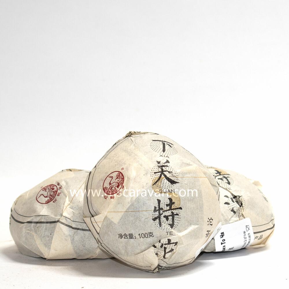 "0496/2018 Чай прессованный зеленый Пуэр Шэн ""Сягуань, Тецзи"", то ча 100 гр"