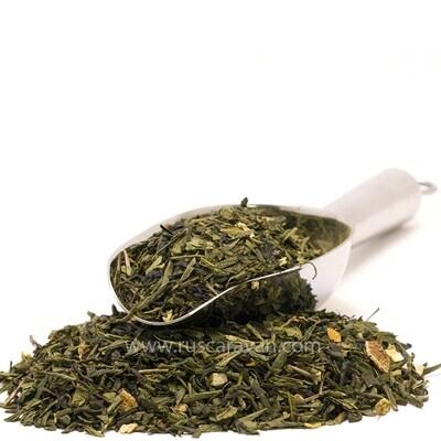 """4125D Чай зеленый ароматизированный ПРЕМИУМ коллекция """"Китайский лимонник"""""""