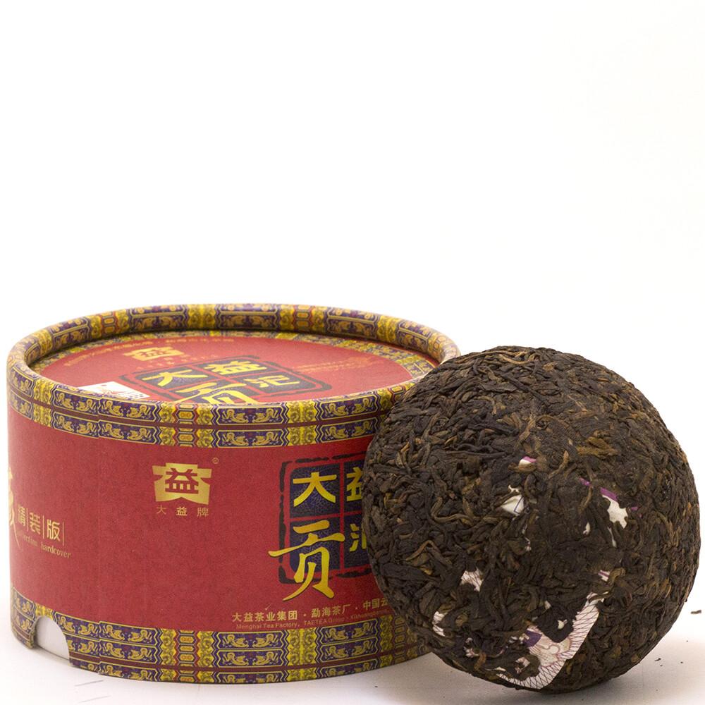 """0493к Чай прессованный черный Пуэр Шу """"Даи Гунто"""" 2010г (то ча, 100гр)"""