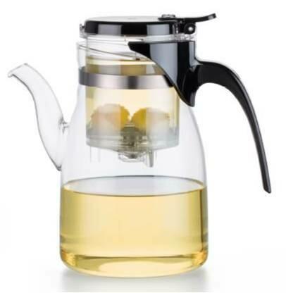 213001 Чайник изипот SAMADoyo 900мл стекло/пластик,с носиком,крышка на защелке.Высота17, дм 9 (B-04)