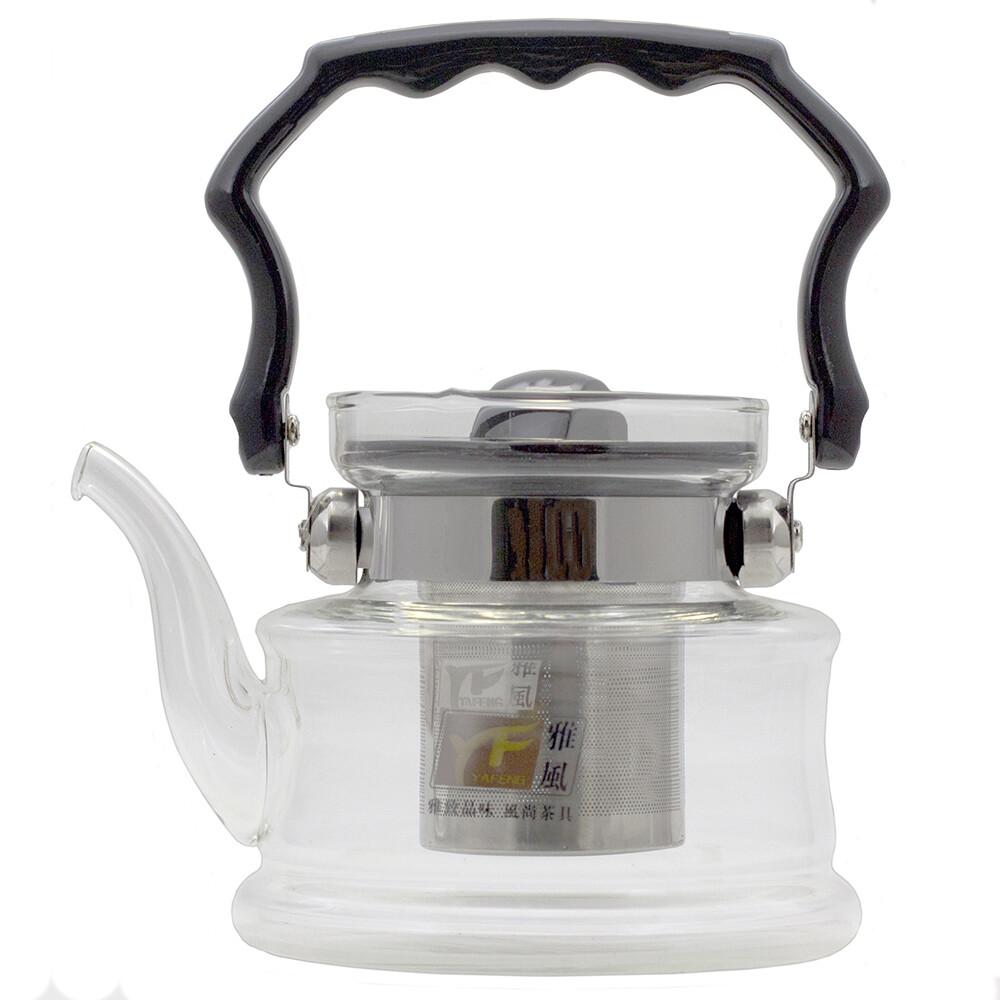219005 YF 6213 Чайник огнеупорный, для варки чая, стекло 800 мл.