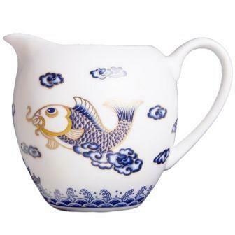 "204038 Ча Хай (сливник) ""Синяя рыбка"", фарфор"