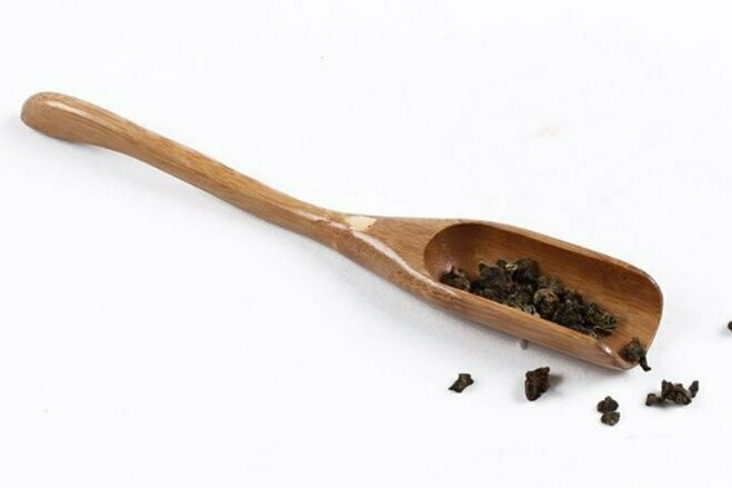 243010 Совок светлый, бамбук, длина 16,5 см