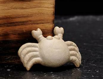 """268111.3 Фигурка """"Крабик"""" мини h=1,5см, l=5,9см, глина песочный"""