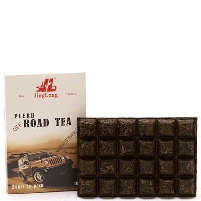 """1032к Чай прессованный черный Пуэр Шу """"Цзинлун Road Tea"""", ча чжуань, 100гр"""