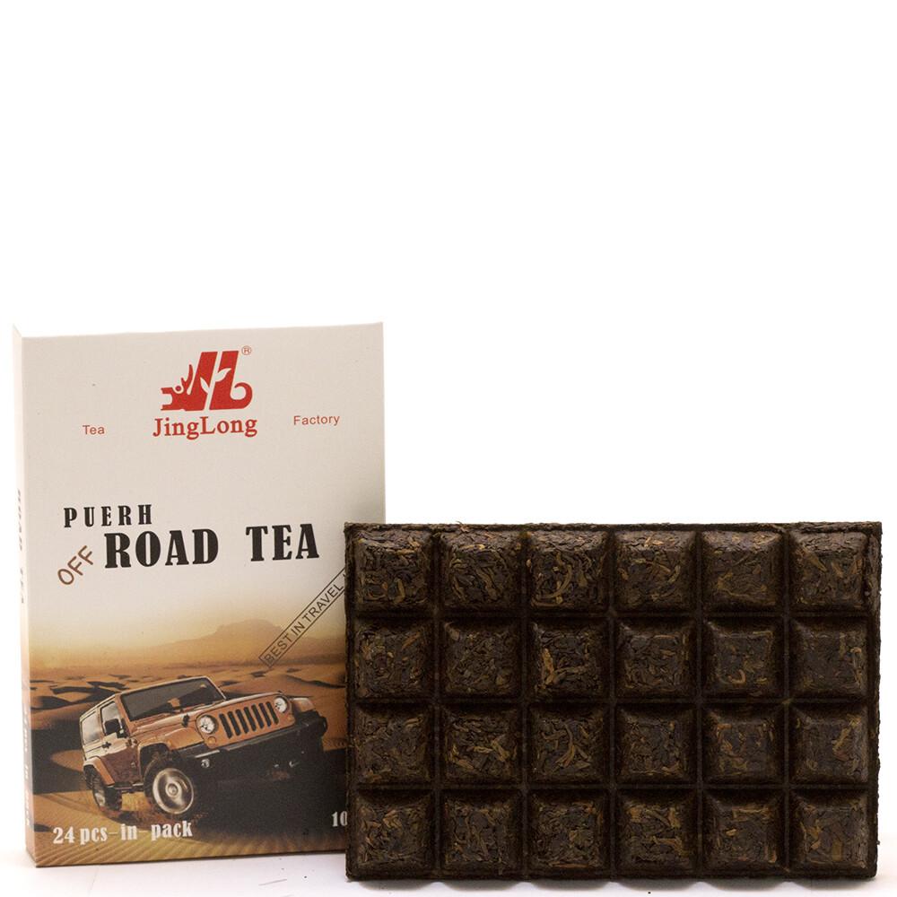 """1032к Чай прессованный черный """"Пуэр Шу """"Road Tea"""" (ча чжуань, 100гр)"""