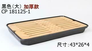 "243035.11 Чабань ""Большая утолщ.бамбук"" размер=43*26см, бамбук/пластик натуральный/черный"