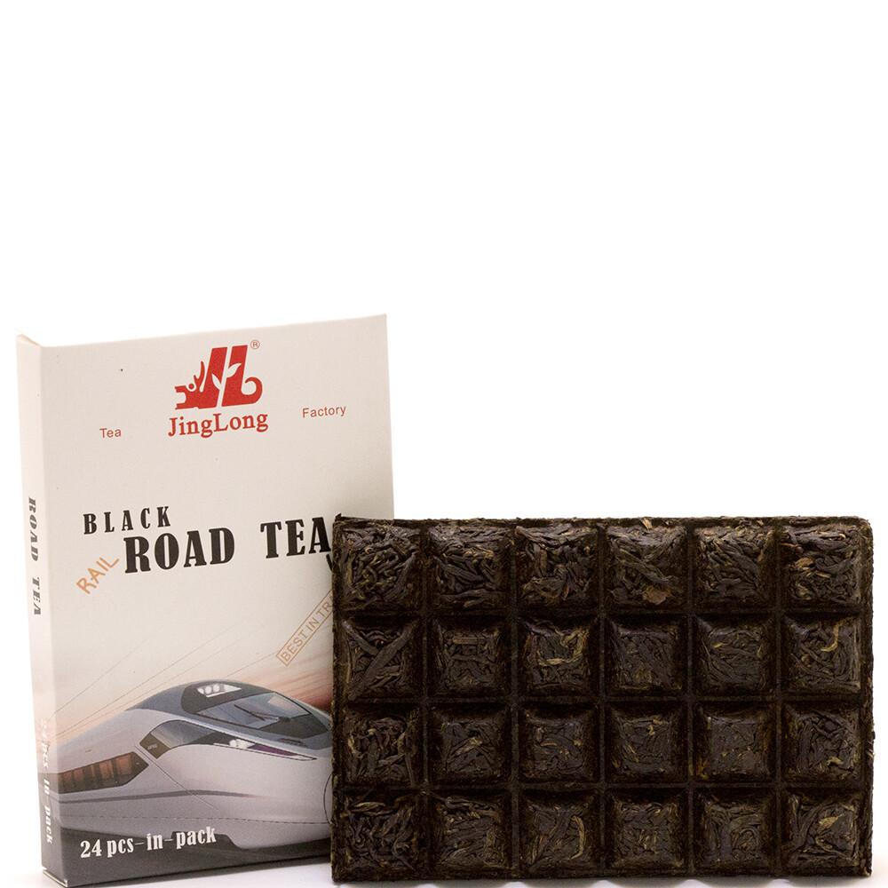 """1034Д Чай прессованный красный Дянь Хун """"Road Tea"""" (ча чжуань, 100гр)"""
