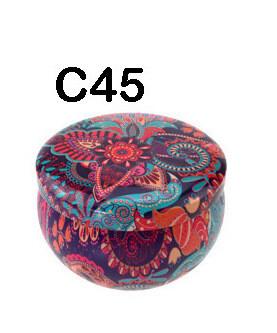 294045 Банка Цветы C45  h=5см, d=7,7см, 150мл, жесть