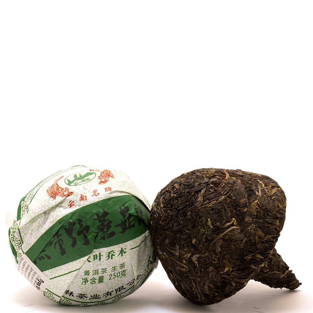 """0952к Чай прессованный зеленый """"Пуэр Шэн"""" (могу то ча, 250гр)"""