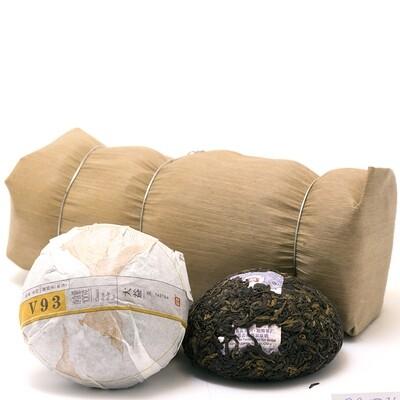 """0354к Чай прессованный черный Пуэр Шу """"ДАИ V93"""", то ча 100гр"""