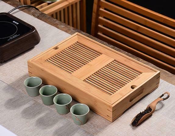 """300004 Чабань """"Бамбуковая решетка""""  размер 35*23*6  см, бамбук"""