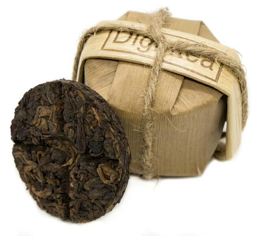"""59194 Чай прессованный черный Пуэр Шу """"Digintea 3шт по 25гр"""", мини бин 75 гр"""