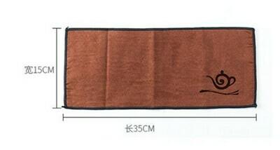 266050 Полотенце коричневое 35*15 см, ткань