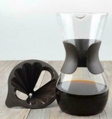 301075 Кофейник-воронка с пластиковым фильтром, стекло