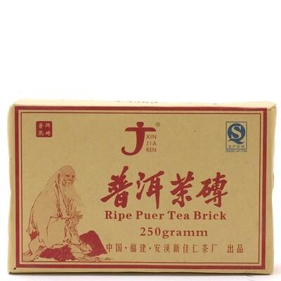 """1024к Чай прессованный черный Пуэр Шу """"Синьцзяжэнь""""  (ча чжуань, 250 гр)"""