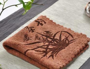 243005 Полотенце 30*30 см ткань коричневый