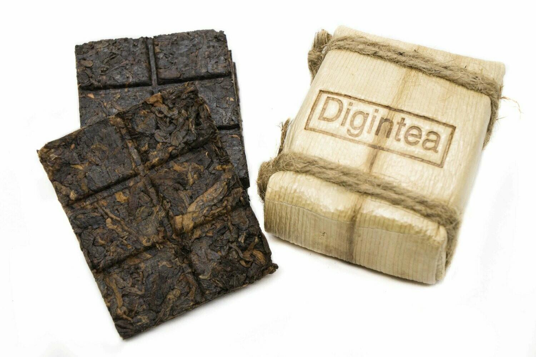 """59195 Чай прессованный черный Пуэр Шу """"Digintea 4 шт по 24гр"""", мини плитка 96гр"""