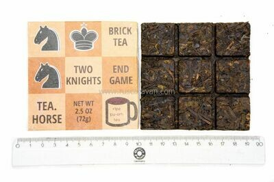 "59223 Чай прессованный черный Пуэр Шу ""Tea Horse Шахматы Шоколадка"", фан ча 72гр"