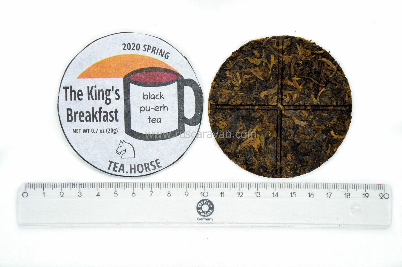 "59222 Чай прессованный черный Пуэр Шу ""Tea Horse The King's Breakfast"", мини бин 20гр"