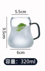 """298023.1 Кружка """"Бриз""""  320мл, h=9.5 см, d=5,5см, стекло/прозрачный"""