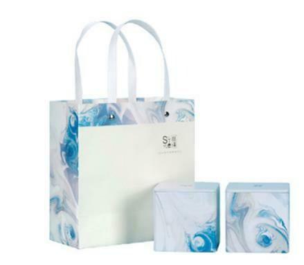 """269075.3 Пакет подар. """"СТИЛЬ"""" h=17см, размер=17см, мел.бумага голубой"""