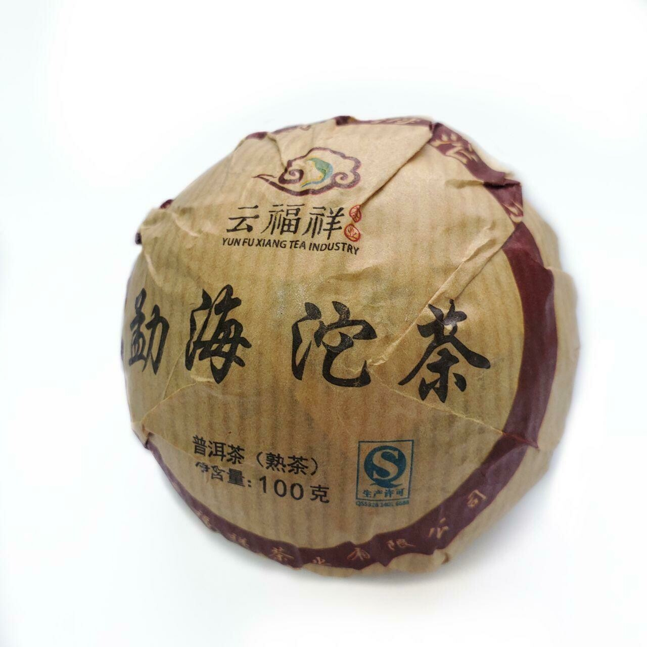 "59240 Чай прессованный черный Пуэр Шу ""Юньфусян"", то ча 100гр"