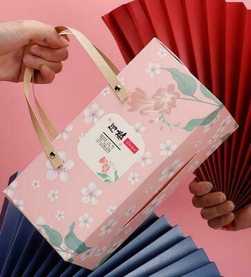 269069.1 Коробка подар. с ручками размер=26*12*21 см, картон розовый