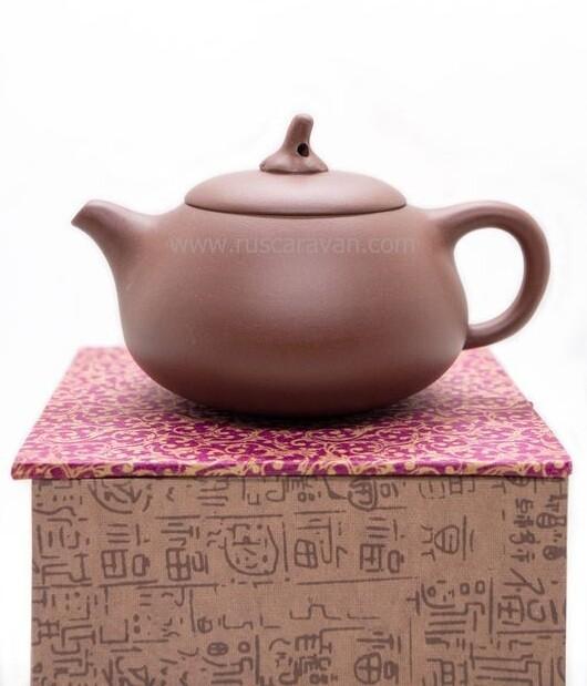 """259011.2 Чайник ИСИН """"Цзядуань - Баклажан"""" без иероглифа  250мл, глина красный"""