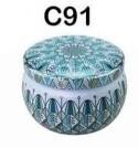 294091 Банка Лотос h=5см, d=7,7см, 150мл, жесть голубой