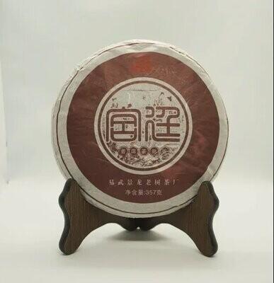 "0422к Чай прессованный черный Пуэр Шу ""Цзинлун Гунтин"", ци цзы бин 357гр"