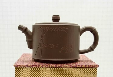 "259012 Чайник ИСИН ""Чжуцзе - Коленце бамбука"" 280мл, глина коричневый"