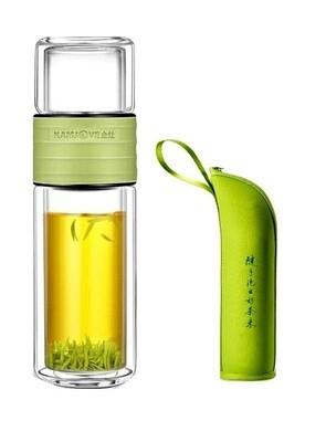 "236018.3 Бутылка для заваривания KAMJOVE ""T-106""  520мл, стекло/пластик зеленый"
