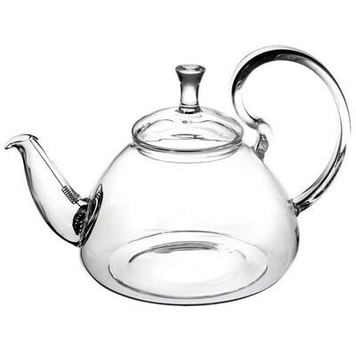 """237059 Чайник """"Георгин"""" 1200 мл, стекло, с пружинным ситом (Bo Lin)"""